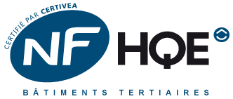label NF HQE Bâtiment tertiaire biosourcé certifié par Certivea